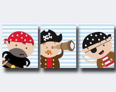 Vivero arte imprimir Baby Boy vivero arte del pirata. por HopAndPop