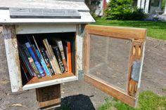 Little Libraries - ALL over the world. Cool map to find your closest one with free books!