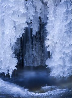 through the curtains of ice...