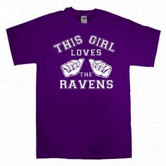 Baltimore Ravens This Girl Loves the RAVENS by pinkboxstudio, $20.00