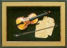 violin shadow box   Antique violin shadowbox.