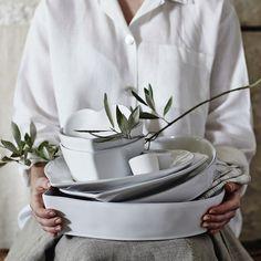 Stoneware Mini Cups - Set of 4 | The White Company