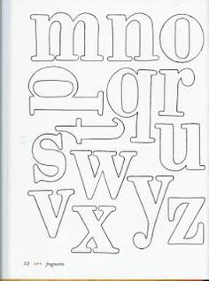 Crafts Cia: Alphabet for application Alphabet Quilt, Alphabet Art, Alphabet Crafts, Monogram Letters, Letters And Numbers, Zentangle, Different Lettering, Alphabet Templates, Embroidery Letters
