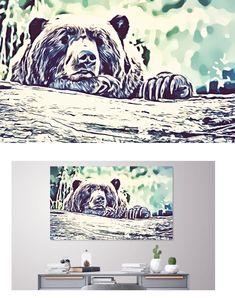 #art #artwork #canvas #canvasart #painting #summer #beach #beachlife #digitalart #digitalpainting  #homedecor #home #homestyle #decor #livingroom #livingroomideas #boho #bohochic #hipster #vintage #love #beautiful #beauty #happy #happiness #inspirational #inspired #bear #teddybear #animal