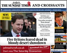 The Sunday Times and Croissants 20th January - how many wars on how many fronts can you fight?