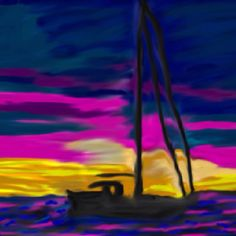Sailing at dusk ((2012)) copyrights by Creative Sketch Design