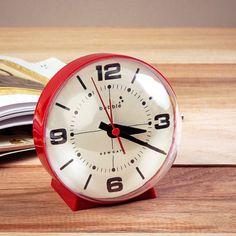 Bubble Mantel Alarm Clock Red $40