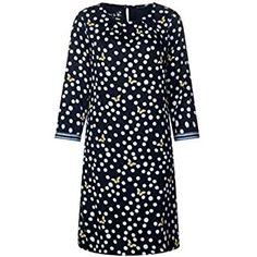 Street One Damen 142392 Kleid Deep Blue Herstellergrosse 38 Kleid Mit Armel Kleider Damen