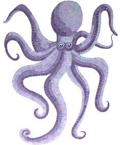 octopus | Glass Octopus Mosaic Inlay
