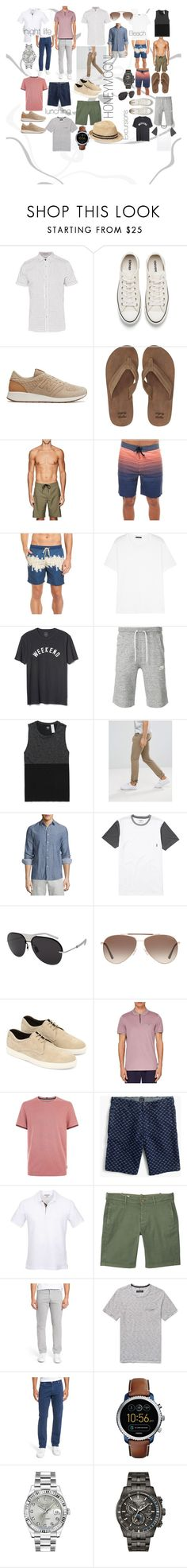 """""""DESTINATION Honeymoon!"""" by jastyleyou on Polyvore featuring Ted Baker, Converse, New Balance, Billabong, Outerknown, Hurley, Vestige, Acne Studios, Gap and NIKE"""