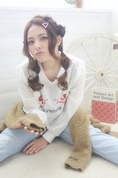★sCene★ お羊アレンジ | 茨木の美容室 sCene ESTのヘアスタイル | Rasysa(らしさ)