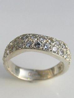 handmade engagement rings,white gold,jewellery gallery Christchurch | Debra Fallowfield