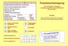 """Einladungskarte / Einladung  """"Krankenschein"""" von Perso-Kreativ auf DaWanda.com"""