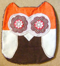 Unique Red n Brown Owl Pillow CUSHION by kalenescustomgifts, $23.00