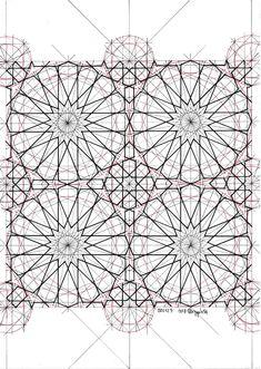 Tile Patterns, Pattern Art, Pattern Design, Geometric Drawing, Geometric Star, Geometry Art, Sacred Geometry, Persian Pattern, Islamic Art Pattern