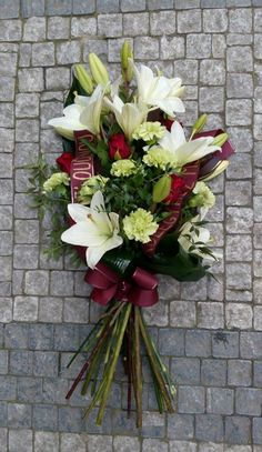 Funeral Flowers - Lilly, Dianthus, Roses
