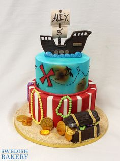 Pirate Ship and Treasure Chest Birthday | Swedish Bakery