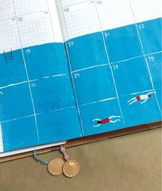 ほぼ日手帳 8月のとこ。