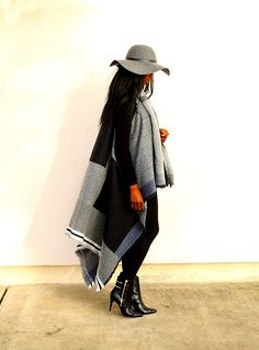 La cape couverture color-block, bohemian style - Styles by Assitan. Blog mode. French style blogger