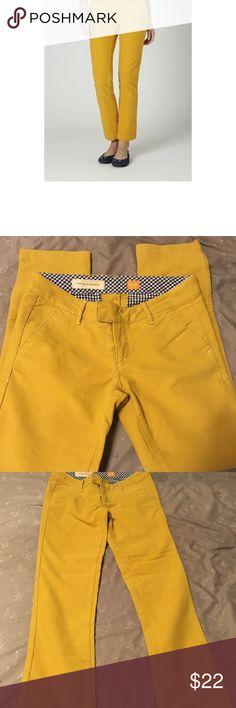 Anthropologie Pilcro mustard yellow pants Pilcro Katama mustard yellow chinos. Like new condition. Size 26. Anthropologie Pants