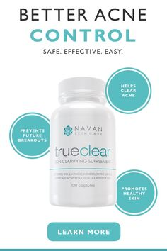 Our TrueClear Acne Supplement detoxifies skin and attacks acne below the surface. Body Acne, Acne Skin, How To Clear Pimples, Face Care, Skin Care, Limpieza Natural, Acne Control, Beauty Secrets, Beauty Tips