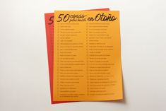 Qué mejor manera de empezar el Otoñoque con un listado de propuestas para la estación que acaba de empezar y mi favorita :), tal y como ya hicimos en verano.    El listado está llenode cosas divertidas
