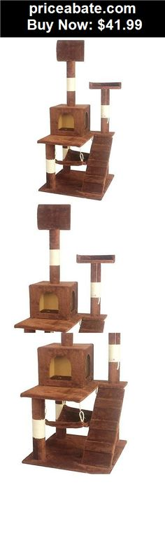 """Animals-Cats: 55"""" Cat Tree Tower Condo Kitten Scratcher pet Furniture  House Hammock Brown - BUY IT NOW ONLY $41.99"""