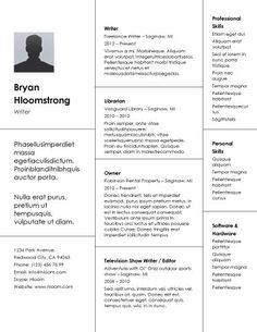 Simple Resumes That Work Amazing 21 Free Résumé Designs Every Job Hunter Needs  Pinterest  Template