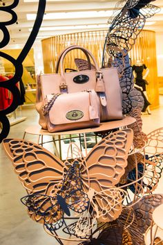 Mulberry Window Display | Butterfly & Cages, 2013 by Millington Associates