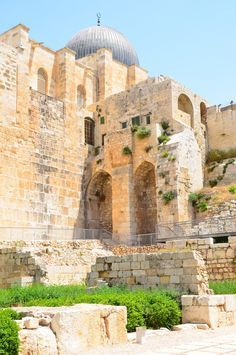 Old city walls in Jerusalem.