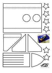 printables for kids - Top-Trends Diy For Kids, Crafts For Kids, Arts And Crafts, Paper Crafts, Diy Crafts, Rocket Craft, Solar System Art, Science Projects For Kids, Art Worksheets