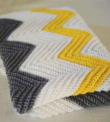 Diy Crafts - Ravelry: Chevron Blanket pattern by Andrea Baker Chevron Crochet Blanket Pattern, Crochet Ripple Blanket, Chevron Baby Blankets, Chevron Blanket, Granny Square Crochet Pattern, Crochet Flower Patterns, Crochet Stitches Patterns, Crochet Blankets, Crocheted Afghans