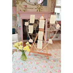 Vintage Wire Cream Metal Heart Table Plan
