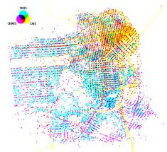 Trees, cabs and crime in San Francisco: I find this interesting because it indirectly maps population density.