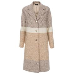 Paul Smith Women's Cream Moon Tweed Duster Coat ($1,095) ❤ liked on Polyvore featuring outerwear, coats, coats & jackets, cream panelled, paul smith, duster coat, colorblock coat, paul smith coat and tweed coat