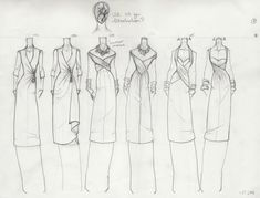 These are for my Computer-Aided Design class. I'm designing for Spring/Summer 2009, playing with 40's and 50's tailoring, splicing that with Christian Iconography of the Martyr St. S...