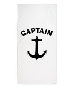 Another great find on #zulily! White 'Captain' Beach Towel by CafePress #zulilyfinds