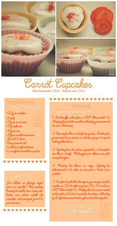 Les Gourmandises de Jelly: ♥ 046 • Carrot Cupcakes ♥