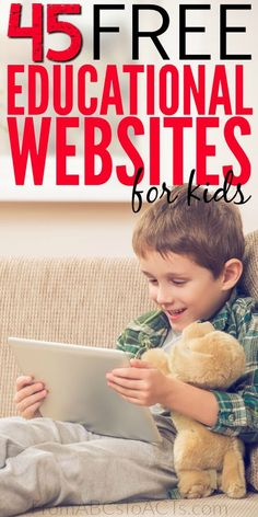 From math games to creative writing prompts, you'll find just every subject covered in this list of 45 free educational websites for kids!