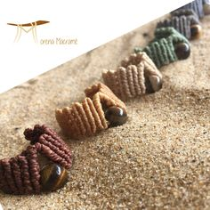Sono entusiasta di condividere questo articolo del mio negozio #etsy: Macrame band ring, men's ring, tiger eye stone, hand knotted, christmas gift for man, dainty ring, earth tones, modern jewel, free shipping Macrame Rings, Macrame Jewelry, Hippie Chic, Jewerly, Rings For Men, Beaded Bracelets, Unisex, Eyes, Handmade