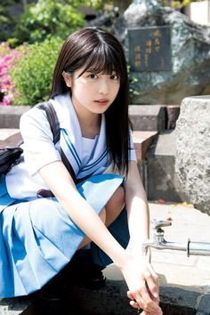 Proud of cute Japanese girls with meek eyes, angel's smile and graceful shyness. School Girl Japan, School Uniform Girls, Girls Uniforms, Japan Girl, Beautiful Japanese Girl, Beautiful Asian Girls, Cute Asian Girls, Cute Girls, Kawai Japan