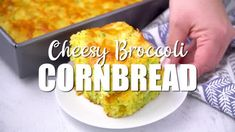 Cheesy Broccoli Cornbread - Spicy Southern Kitchen Holiday Meals, Holiday Recipes, Casserole Recipes, Bread Recipes, Broccoli Cornbread, Southern Kitchens, Cheese Tasting, Corn Bread, Broccoli And Cheese