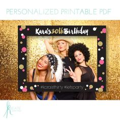 Printable Large Photo Frame Prop DIY by KreateGraphicDesign More