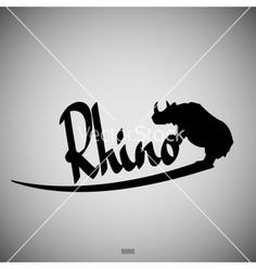 Rhino calligraphic elements vector by Slashman on VectorStock®