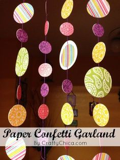 HOW TO: Confetti Paper Garland || Paper Craft