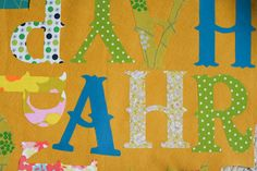 a bit of sunshine: make something monday :: a happy birthday banner