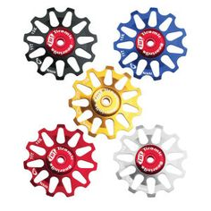 Product: @Wayne Burgess Alloy Pulley Jockey Wheels. Spice up your rear derailleur! Check it out: http://roa.rs/1bVYROi