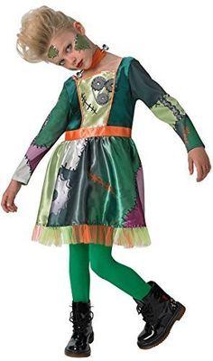 Mädchen-grün Frankenstein Halloween Monster Horror Film Kostüm Kleid Outfit 3-8 jahre - Grün, 3-4 years