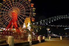 Ferris Wheel and Bridge - Sydney