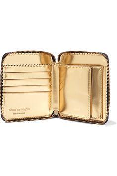 Comme des Garçons - Glossed-leather Wallet - Black - one size